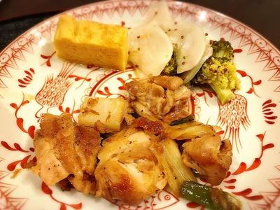 鶏肉と長ネギの甘辛炒め