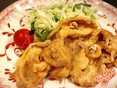 豚のカレー生姜焼き