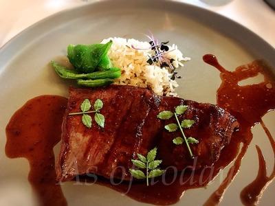バベットステーキ XO醤とブラックペッパーのソース