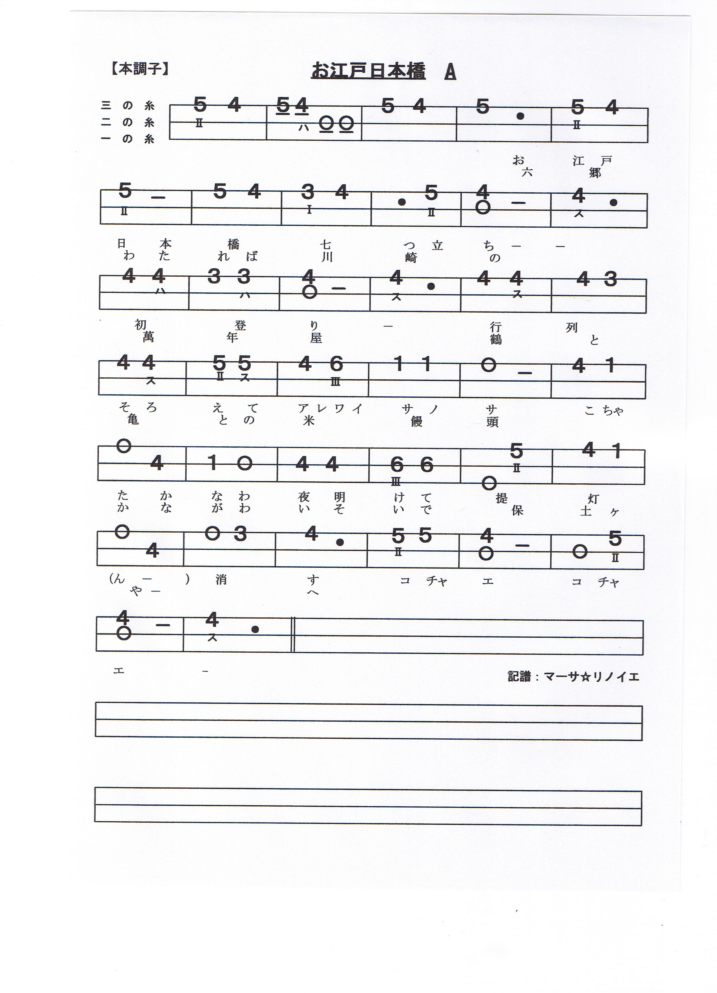 マーサ☆リノイエ:三味線の ... : 印刷できない pdf : 印刷