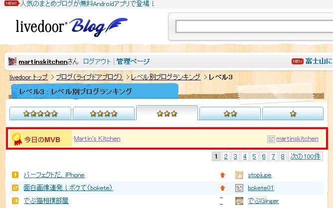 レベル3 レベル別ブログランキング ライブドアブログ