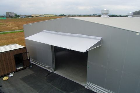 tent of warehouse