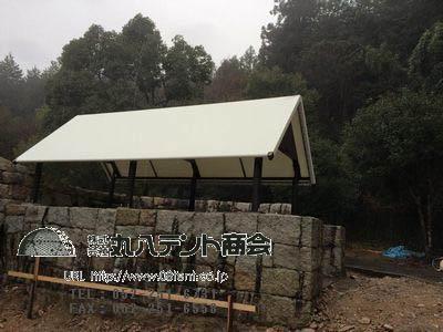 キャンプ場テント