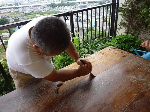 テーブル塗り替え 10