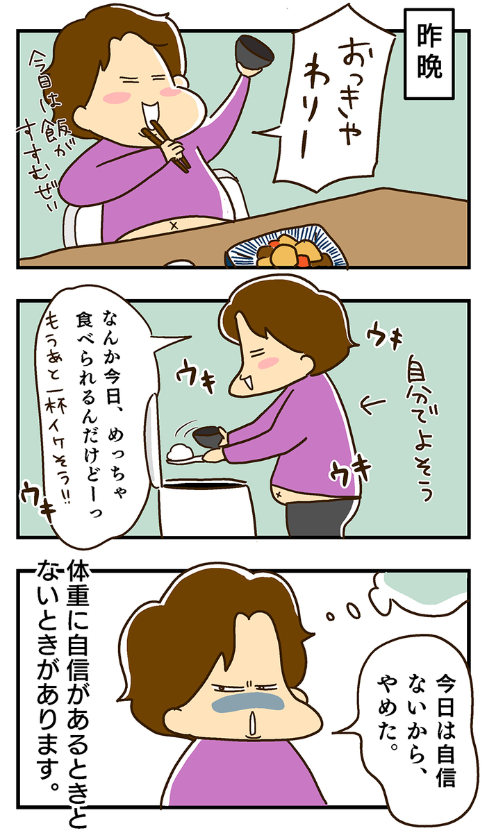 エッセイ漫画 体重計