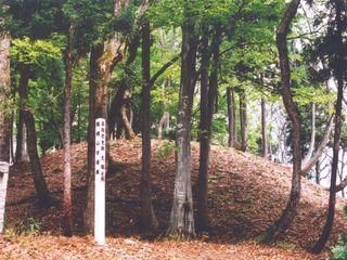 ブナ林の中にひっそりと佇む女塚