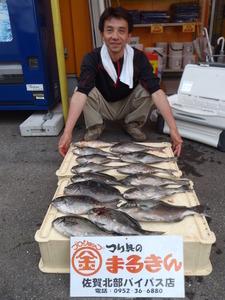 五島釣り大会スタッフ釣果