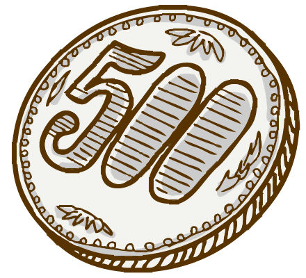 偶然令和製造の500円硬貨を手に入れた
