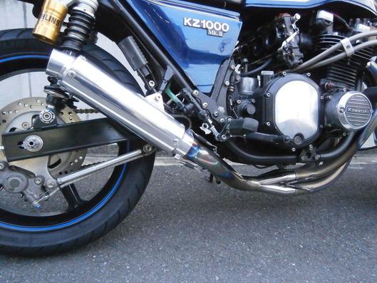 カワサキ KZ1000 Mk2 ワンオフマフラー