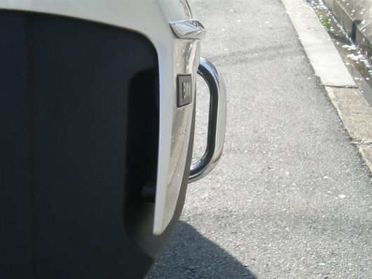 BMW K1600GTL Pannier guard リアビュー。ちょうど良い突出し量。