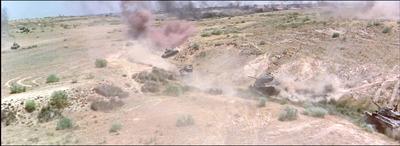 待ち伏せ位置に移動する戦車隊