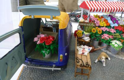 車内にもお花が