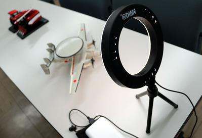 ダイム付録の撮影用照明
