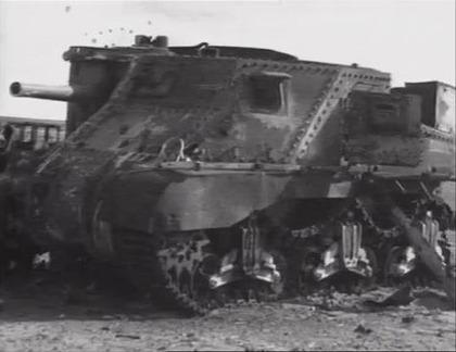 撃破されたグラント戦車