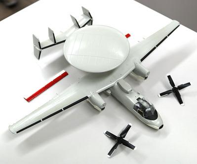 E-2Cホークアイ製作中