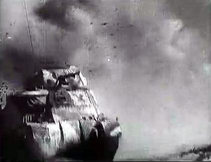 戦場で酷使されるグラント戦車