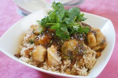 Recipe51:帆立の麻辣もち米蒸し