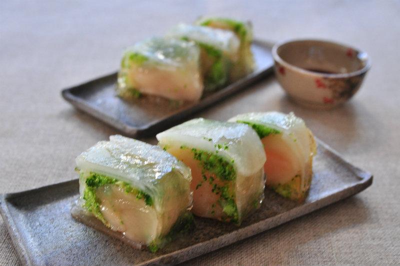 Recipe81:ホタテ貝柱とブロッコリーのゼリーよせ