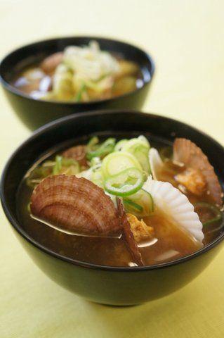 Recipe58:ベビーホタテの味噌汁