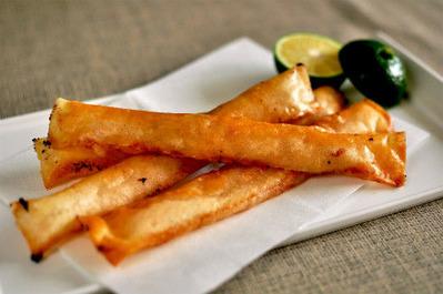 Recipe29:ホタテ貝柱とイカの塩辛の春巻き
