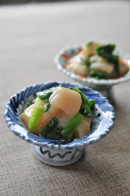 Recipe78:帆立貝柱の酢味噌和え