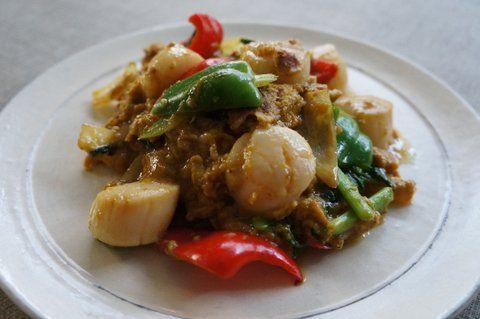 Recipe60:ホタテ貝柱のタイ風卵とじ