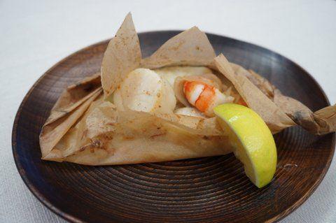Recipe20:ホタテ・海老・タラの紙包み焼き