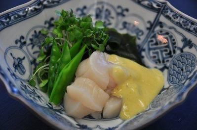 Recipe50:ホタテとわかめの黄身酢ドレッシング