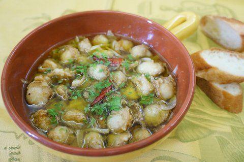 Recipe17:ベビーホタテのアヒージョ(オリーブオイル煮)