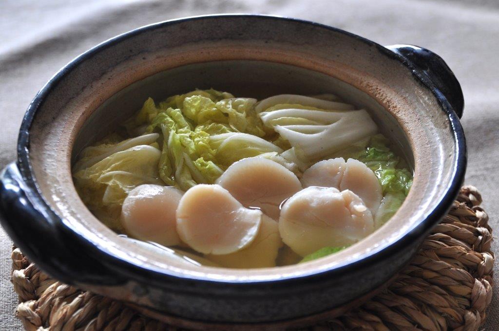 Recipe55:帆立と白菜の一人鍋仕立て