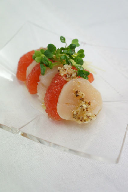 Recipe68:帆立とグレープフルーツのサラダ仕立て