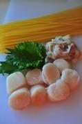 帆立の味噌味パスタ-材料