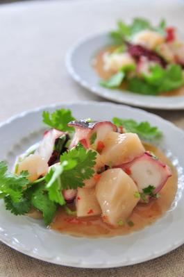 Recipe91:ホタテ貝柱とタコのアジアンマリネ