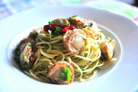 Recipe39:ベビー貝柱のスパゲティ