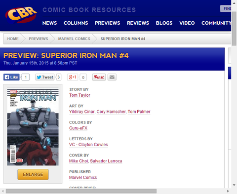 デアデビルがトニーの秘密を暴露する!スペリアー・アイアンマン #4のプレビュー画像が更新!