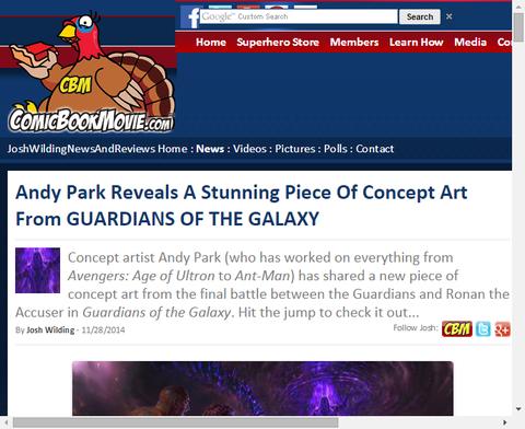 アンディ・パークが映画「ガーディアンズ・オブ・ザ・ギャラクシー」のラストバトルシーンのコンセプトアートを公開!