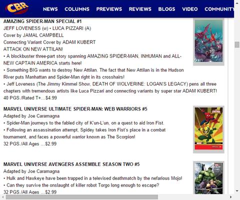 ニューアティランに起きることとは!?アメイジング・スパイダーマン・スペシャル #1のプレビュー!
