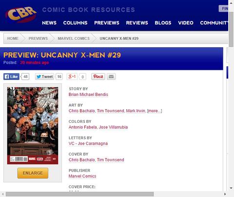 この数ヶ月のすべてが至る!アンキャニー・X-MEN #29のプレビュー画像が更新!