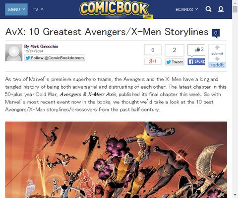 アベンジャーズ/X-MENの最も素晴らしい10のストーリーライン!