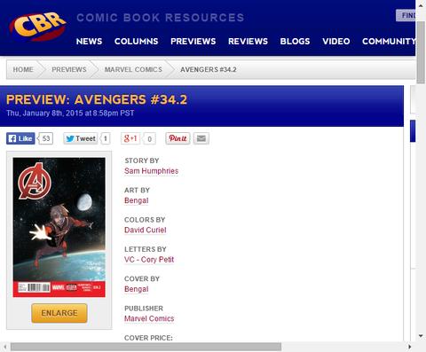 スターブランド連れ戻せ!をアベンジャーズ #34.2のプレビュー画像が更新!