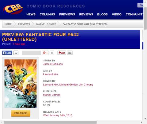 ファンタスティック・フォー #642のプレビュー画像が公開!