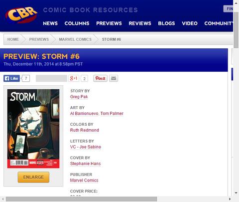 復讐に燃える暗殺者!ストーム #6のプレビュー画像が更新!