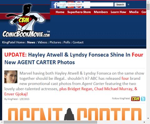 ドラマ「エージェント・カーター」のキャラクターをフィーチャーした新たな画像が公開!