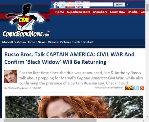 ルッソ・ブラザーズは「キャプテン・アメリカ:シビル・ウォー」に『ブラック・ウィドウ』が帰ってくることを確認する!