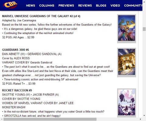 アニメ版のコミック化!マーベル・ユニバース ガーディアンズ・オブ・ザ・ギャラクシー #2のプレビュー!