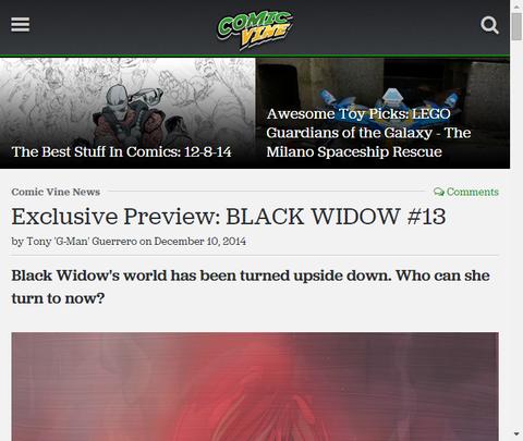 シリーズ最初の1周年!ブラック・ウィドウ #13のプレビュー画像が更新!