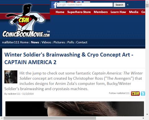 映画「キャプテン・アメリカ:ウィンター・ソルジャー」のコンセプトアート!