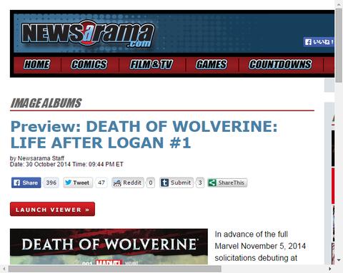 X-MENはウルヴァリンの死に何を思い何を見るのか?デス・オブ・ウルヴァリン:ライフ・アフター・ローガン #1のプレビュー画像!