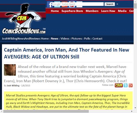 映画「アベンジャーズ:エイジ・オブ・ウルトロン」の新たなスティール画像が公開!