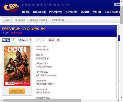殺人宇宙海賊が今度は超強力な兵器を盗む!?サイクロプス #9のプレビュー画像が更新!